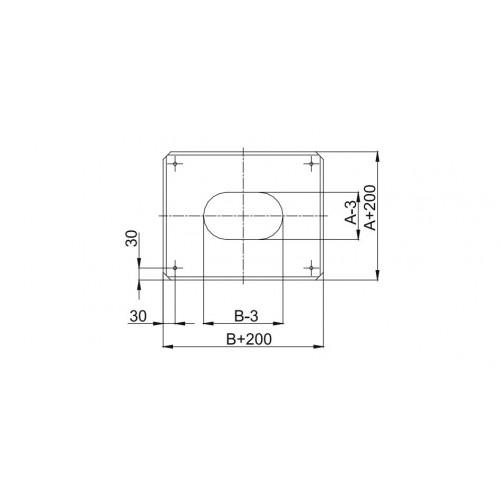 Redukcja okrągła Ø 180 na kwadrat / prostokąt