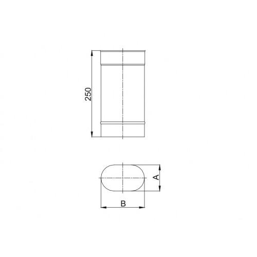 Kolano owalne 90º krótki bok - 100x200