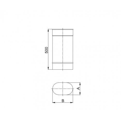 Kolano owalne 90º dłuższy bok - 100x220