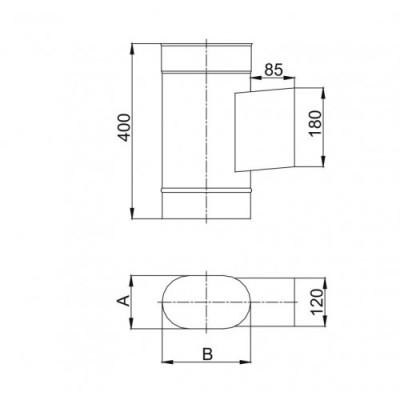 Rura dwuścienna Ø 120 1000 mm