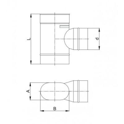 Płyta kotwowa przelotowa dwuścienna Ø 120