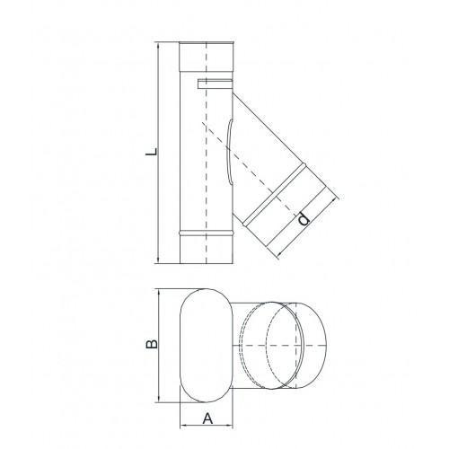 Płyta kotwowa przelotowa dwuścienna Ø 150