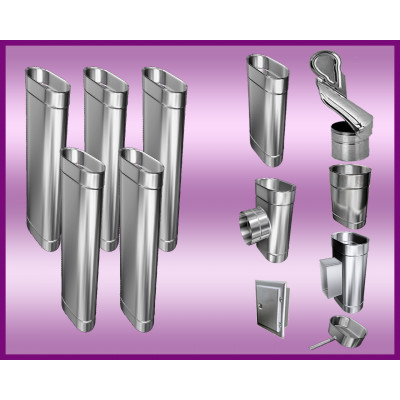 Obejma konstrukcyjna przestawna Ø80/W4 regulacja 300-550 mm