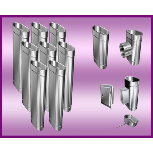 KWASOODPORNE  PRZEDŁUŻENIE DRZWICZEK DO WYCZYSTKI PROSTOKĄTNE  120x180 mm L-150mm