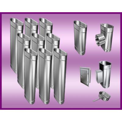 KWASOODPORNE  PRZEDŁUŻENIE DRZWICZEK DO WYCZYSTKI PROSTOKĄTNE  120x180 mm L-200mm