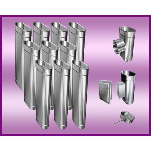 KWASOODPORNE  PRZEDŁUŻENIE DRZWICZEK DO WYCZYSTKI PROSTOKĄTNE  120x180 mm L-250mm