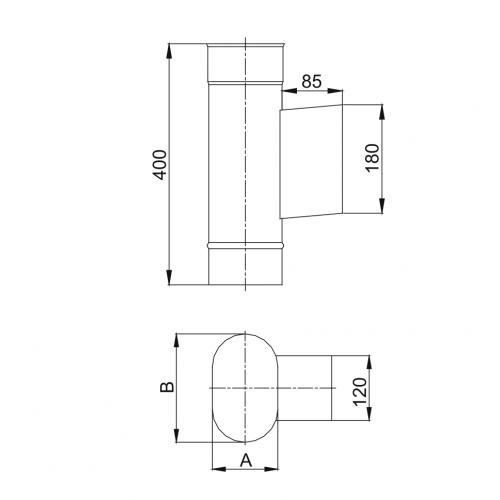 Wspornik komina dwuściennego Ø 113