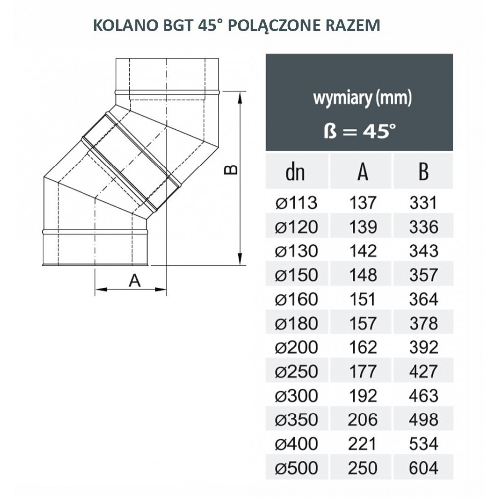 Przejście BERTRAMS 150mm - komin ceramiczny 200mm