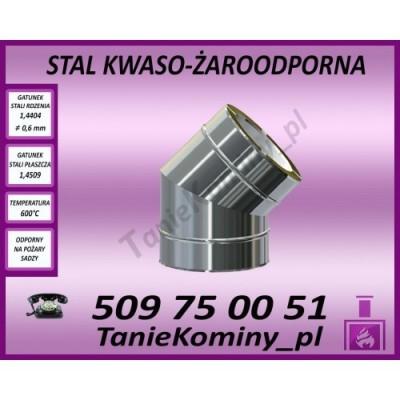 KOMIN DWUŚCIENNY RURA IZOLOWANA 1M Fi 130/190 DINAK