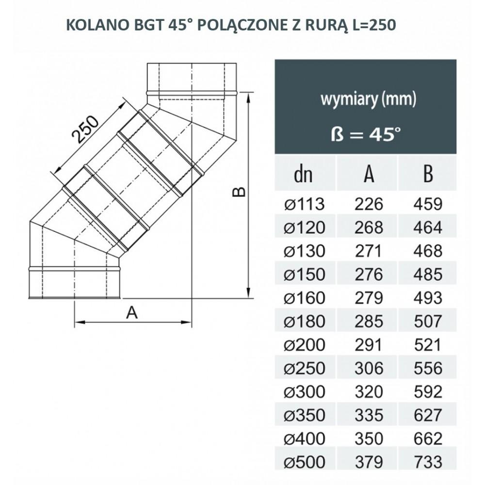 KOMIN DWUŚCIENNY RURA REGULOWANA IZOLOWANA 530mm-880mm fi 130/190 DINAK