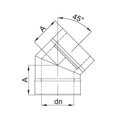 KOMIN DWUŚCIENNY RURA REGULOWANA IZOLOWANA 350mm-530mm fi 180/240 DINAK