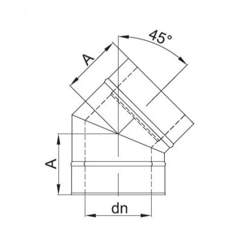 kolanko izolowane 45 stopni fi 150/210 Dinak