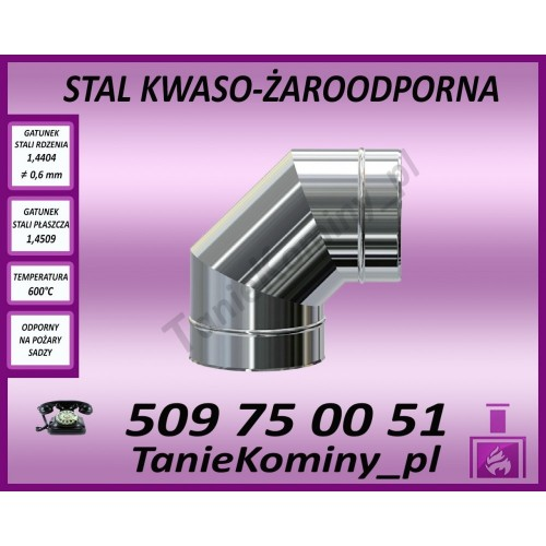 Kolano Turbo fi 60-100 / 15°