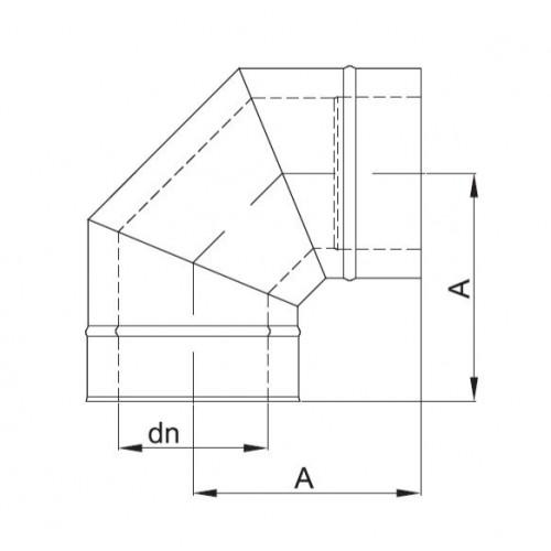 kolanko izolowane 30 stopni fi 150/210 Dinak