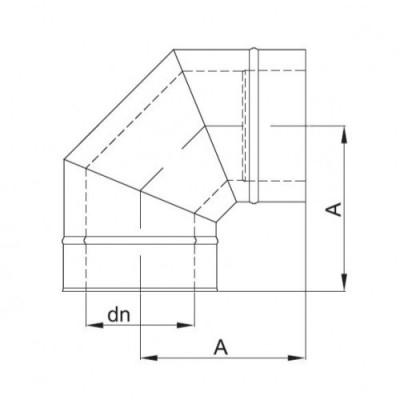 kolanko izolowane 15 stopni fi 150/210 Dinak