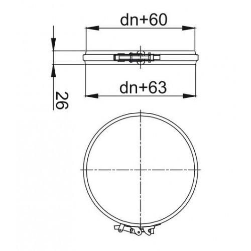 trójnik izolowany 90 stopni fi 130/190 Dinak