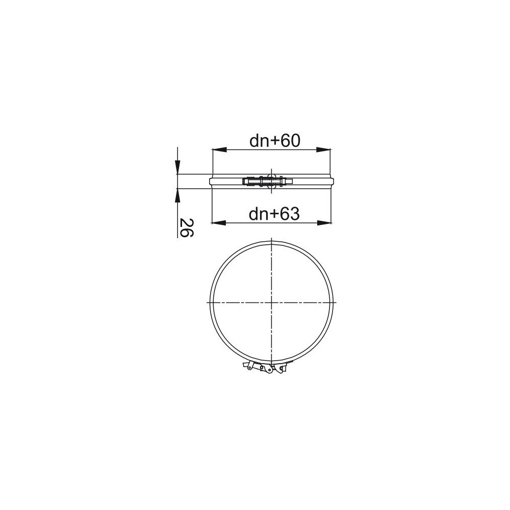 trójnik izolowany  z redukowanym odgałęzieniem 93 stopni fi 130/190 Dinak