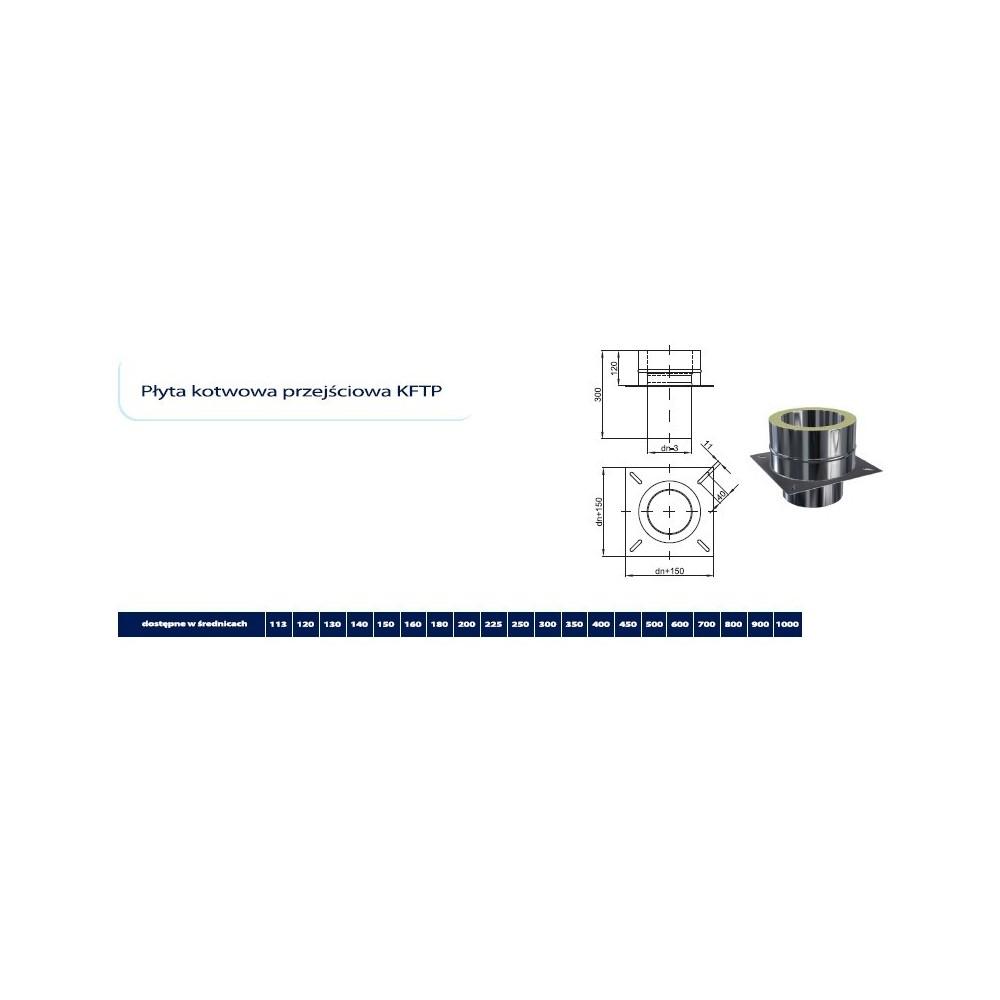Odskraplacz boczny izolowany  fi 130/190 Dinak