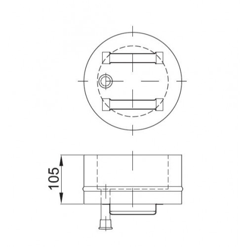 Daszek przeciwwietrzny izolowany  fi 80/140 Dinak