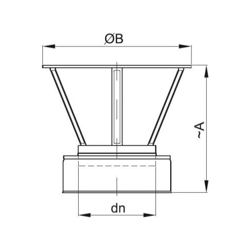 Rozeta izolowana fi 150/210 Dinak