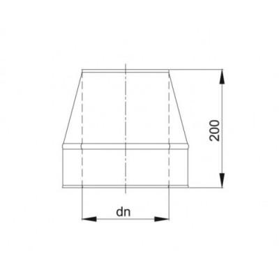 Obejma murowa regulowana 70-120mm izolowana  fi 130/190 Dinak