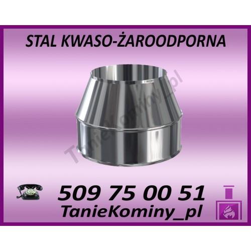 Obejma murowa regulowana 100-250mm izolowana  fi 80/140 Dinak