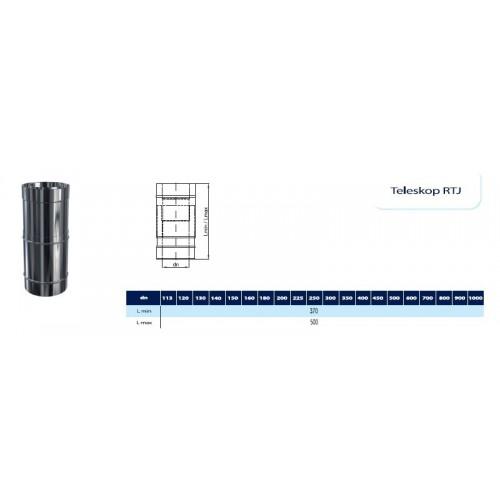 Obejma murowa regulowana 250-430mm izolowana  fi 80/140 Dinak