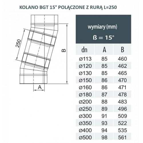 Wyjście poziome izolowane fi 150/210 Dinak