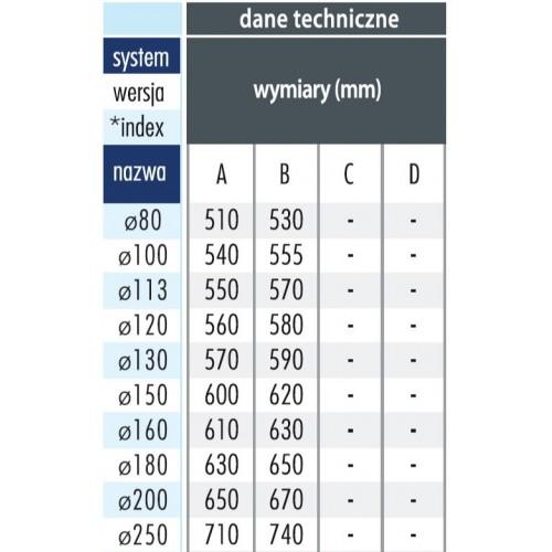 Giętki przewód spalinowy 110mm 1.5mb