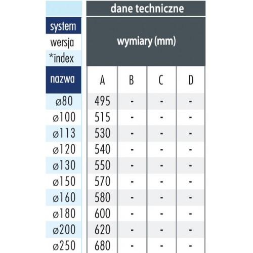 Giętki przewód spalinowy 150mm 1.5mb