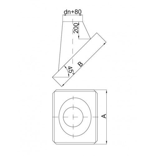 Giętki przewód spalinowy 180mm z metra