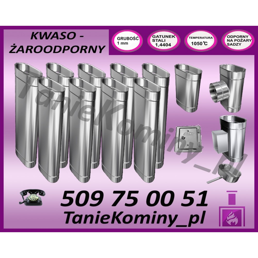 ELASTYCZNA RURA STALFLEX KWASOODPORNA FI 160 1MB - SPIRO
