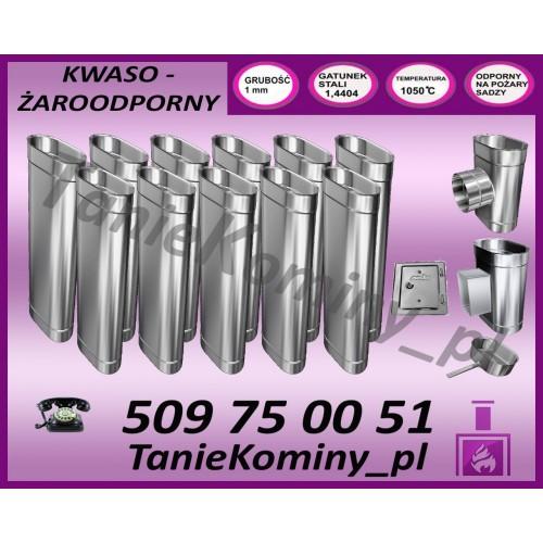PRZEDŁUŻENIE KOMINA DWUŚCIENNE FI 130/190 MK ŻARY  STANDARD