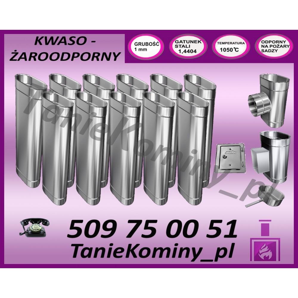 PRZEDŁUŻENIE KOMINA DWUŚCIENNE FI 160/220 0,5M MK ŻARY  STANDARD
