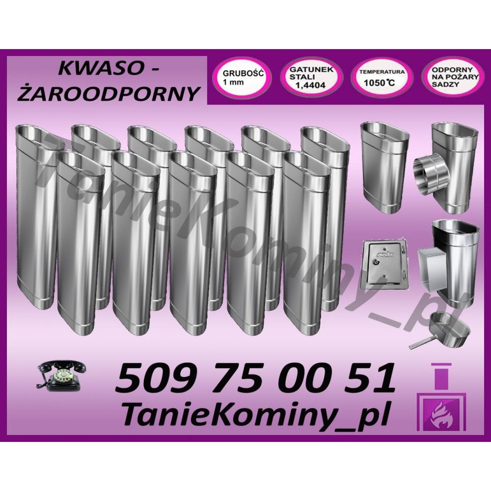 PRZEDŁUŻENIE KOMINA DWUŚCIENNE FI 200/260 0,5M MK ŻARY  STANDARD