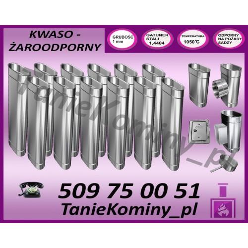 PRZEDŁUŻENIE KOMINA DWUŚCIENNE FI 150/210 1,0M MK ŻARY STANDARD