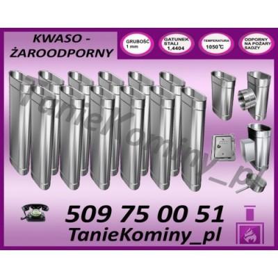 PRZEDŁUŻENIE KOMINA DWUŚCIENNE FI 130/190 0,5M MK ŻARY  STANDARD