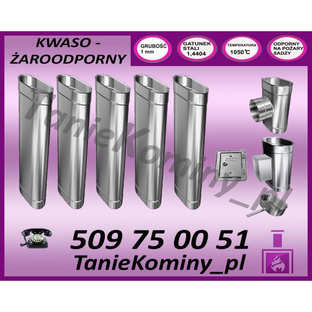 PRZEDŁUŻENIE KOMINA DWUŚCIENNE FI 200/260 0,5M MK ŻARY PREMIUM