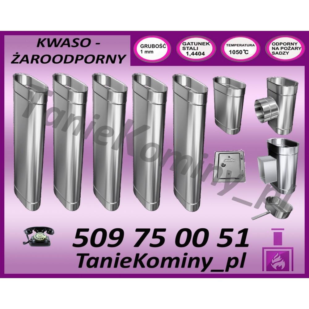 PRZEDŁUŻENIE KOMINA DWUŚCIENNE FI 130/190 1,0M MK ŻARY PREMIUM