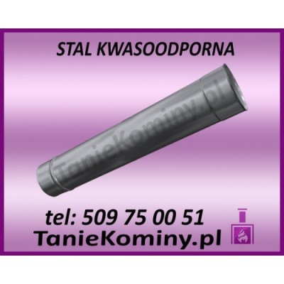 RURA PROSTA KWASOODPORNA OKRĄGŁA Ø 80 L-1000 mm