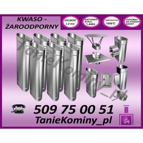 PAKIET 8 m KOMIN OWALNY 100x160 kwaso-żaroodporny
