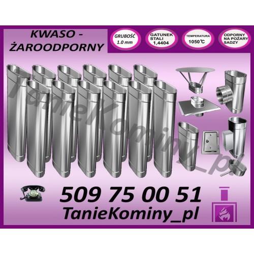 PAKIET 13 m KOMIN OWALNY 100x160 kwaso-żaroodporny