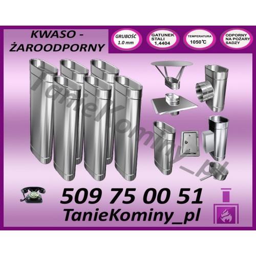 PAKIET 7 m KOMIN OWALNY 100x160 kwaso-żaroodporny