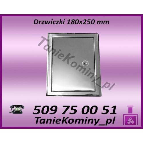 DRZWICZKI KOMINOWE NIERDZEWNE 180X180 mm (WYMIAR ZEWNĘTRZNY RAMKI)