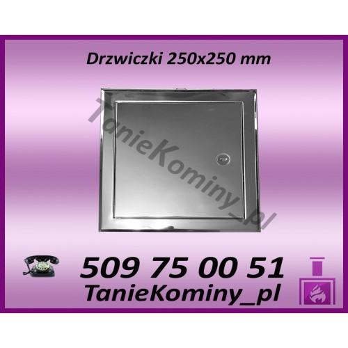DRZWICZKI KOMINOWE NIERDZEWNE 180X250 mm (WYMIAR ZEWNĘTRZNY RAMKI)