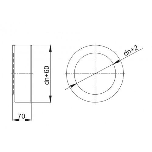 Obejma spinająca wąska KBT Ø 250 RURY IZOLOWANEJ (RDZEŃ Ø 250 / PŁASZCZ Ø 310)