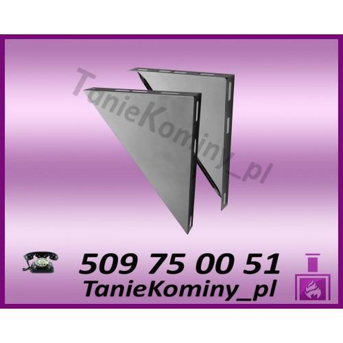 Wsporniki trójkątne komina dwuściennego WKT / W1 Ø100 (komplet 2 szt.)