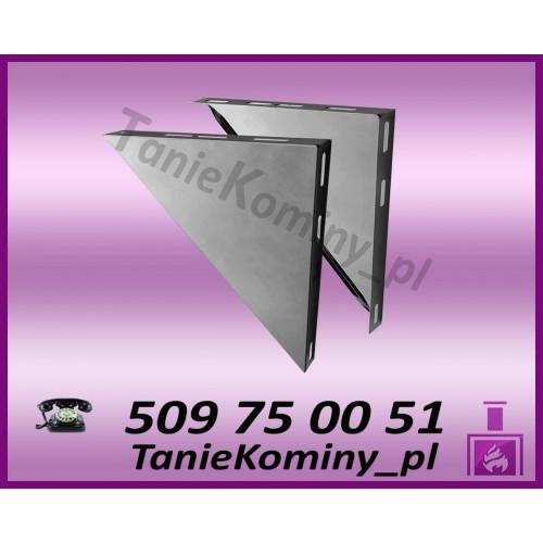 Wsporniki trójkątne komina dwuściennego WKT / W1 Ø80 (komplet 2 szt.)