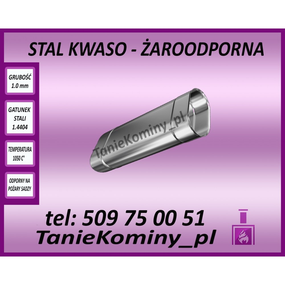 Rura owalna 140x250 L - 500 mm