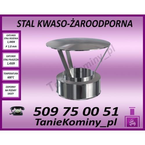 PARASOL / ZAKOŃCZENIE KOMINA RHTS rdzeń Ø 350 płaszcz Ø 410